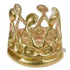 Kids Childrens Inflatable Gold Royal Crown King Fancy Dress Novelty Party Hats