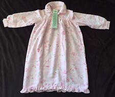 NWT Pottery Barn Kids PBK Girls Polyester Pink Bunny Rabbit Owl Nightgown 3T