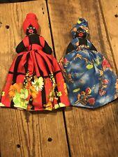 2 Two Vinta 00006000 ge Black & Black Americana Cloth Topsy Turvy Rag Dolls Reversible