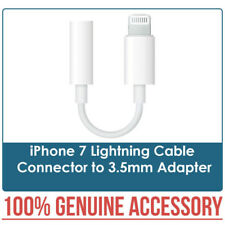 iPhone 7 Lightning Cable Connector Charger to 3.5mm Adapter New 100% Genuine