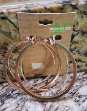 Fashion Earrings Hoop 1 Pair Dream out Loud Selena Gomez Gold in color Red NEW