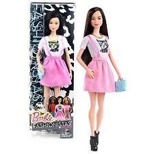 BARBIE FASHIONISTAS ASIAN DOLL CLN66 WHITE KITTY MEOW SHIRT *NEW*
