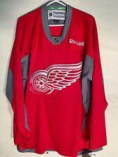 Reebok Practice  NHL Jersey Detroit Redwings Team Red sz L