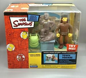 2004 Playmates The Simpsons Rare TOWN SQUARE Environment w/ Jebediah Springfield