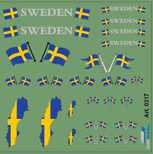 Decal 1/50 DIS0317 M1/50 Schwedische Fahnen Decal•für Auflieger und Zugmaschinen