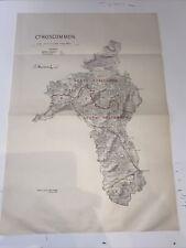 1885 County Roscommon Ireland Map Ordnance Survey Office Boundary Commissioner