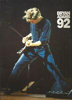Bryan Adams 1992 tour programme