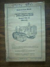 Ih Farmall Mccormick International Td35 Crawler Owners Manual