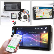 "7"" HD 2 Din Touch Screen Car GPS Navigation Bluetooth FM Radio MP5 Player Cool"