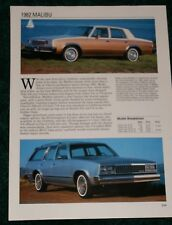 ★★1982 CHEVY MALIBU SPEC SHEET INFO PHOTO 82 WAGON SEDAN★★