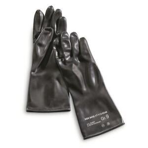 NEW Dutch Military Combat NBC Gloves Chemical Large/X-Large Seyntex Black Army