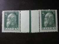 BAVARIA BAYERN GERMAN STATES Mi. #WZ 2 mint MNH stamp strip! CV $60.00