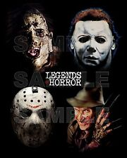 LEGENDS OF HORROR #3 16X20 Poster JASON / FREDDY / MICHAEL MYERS / LEATHERFACE