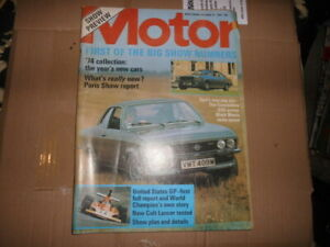 THE MOTOR MAGAZINE OCTOBER 12 1974 OPEL MANTA, COMMODORE SHOW NUMBER