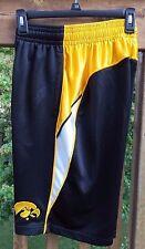 Stadium Athletics Mens Iowa Hawkeyes  Shorts SZ Small Black Yellow Polyester
