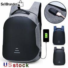 Mens Anti Theft Waterproof 15.6 Laptop Backpack USB Charging Travel School Bags