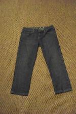 womens juicy couture the penelope faded medium wash denim jeans capris sz 30 28