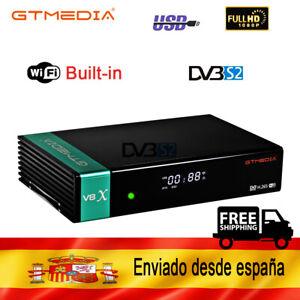 Gtmedia V8X Satellite Receiver H.265 DVB- S/S2/S2X Built in Wifi 1080p
