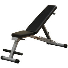 Powerline PFID125X Flat Incline Decline Weight Bench - Adjustable and Folding