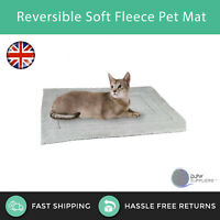 Small Reversible Soft Fur Fleece Pet Bed Basket Mat Cushion Pillow Mattress Dog