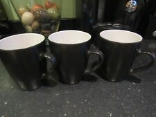 A Trio of Quality Pre-owned but Unused Black Essence Stoneware Mugs/Coffee Cups