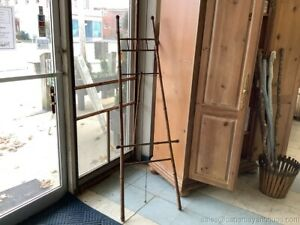 "Antique Large Tall Bamboo Easel Artwork Display Entrance Entry Display 69"" Tall"