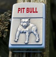 ZIPPO COLLECTABLE  PIT BULL. EMBLEM. LIGHTER NEW IN ZIPPO BOX MINT CONDITION