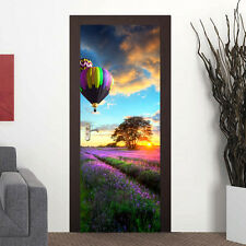 88cm Summer Lavender Door Stickers Murals Self-Adhesive Office Home Decor Gift