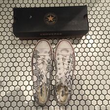 Brand new in box customised Converse Chuck Taylor low Top white UK8
