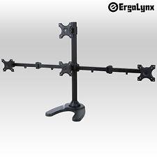 Ergolynx Quad Screen VESA Monitor Pyramid Desk Mount Arm LCD LED TV Four 4 Stand