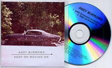 ANDY BURROWS Keep On Moving On UK 2-trk promo test CD Razorlight radio edit