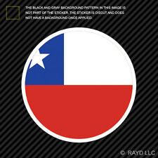 Round Chilean Flag Sticker Die Cut Decal Self Adhesive Vinyl Chile CHL CL