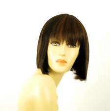 perruque femme 100% cheveux naturel carré méchée noir/cuivré JACKIE 1b30