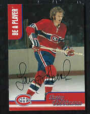 LARRY ROBINSON 1999-00 BE A PLAYER AUTO SIGNED CARD CH10 MONTREAL CANADIENS NHL