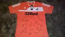 SWANSEA CITY A.F.C. EPL SIGNED 2012 ADIDAS SOCCER JERSEY