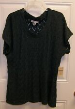 Coldwater Creek Teal Sweater XL NWT