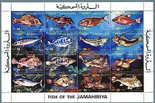 LIBIA INDIPENDENTE - 1983 - Fauna marina. Pesci