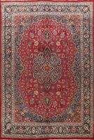 Vintage Floral Traditional Wool Hand-Knotted Area Rug Oriental RED Carpet 9x13