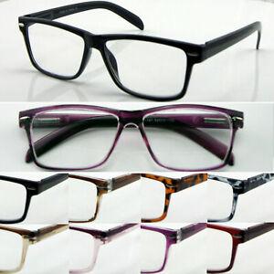 S.1 Wayfarer Reading Glasses Spring Hinge Large Frame Modern Style