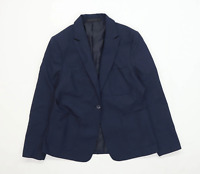 Marks & spencer Boys Blue Button Up Blazer Jacket Age 16 Years
