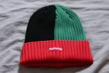 Supreme Beanie Hat Green Red One Size SS20 Overdyed Box Logo