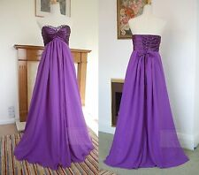 Strapless Full Length Chiffon Party Evening Wedding Bridesmaid Dress JS09
