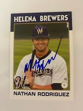 Nathan Rodriguez 2016 Signed Helena Brewers Team Card