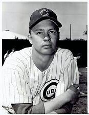 1960 Vintage Photo Chicago Cubs Baseball Pitcher Don Elston in uniform