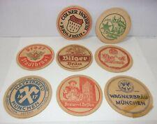 OLD EUROPEAN BAR TAVERN BEER COASTERS VINTAGE BREWERIANA Bilger Brau Grolsch