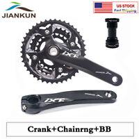 MTB Bike Crankset BB Triple 10 Speed Chainset 104/64mm BCD 24/32/42T Chainring