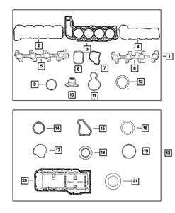 Genuine MOPAR Engine Upper Gasket Package 68001777AA