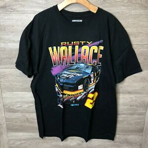 Fanatics Mens 2XL Rusty Wallace Nascar T Shirt NEW