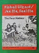 PINBALL WIZARD & SEE ME, FEEL ME vintage Australian sheet music THE NEW SEEKERS