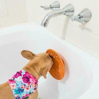 OFFER - LickiMat Splash Stick On Dog Bowl Stress Free Bathtime Grooming Blue